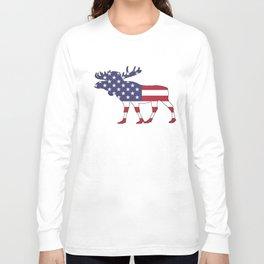 "Moose ""American Flag"" Long Sleeve T-shirt"