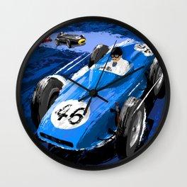 Racing Car Poster Wall Clock