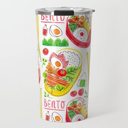 Japanese Bento Rice Lunch Box with Chopsticks & Onigiri Travel Mug