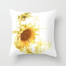 Vintage Sunflower in the Light Throw Pillow