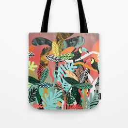 Sunset in the jungle Tote Bag