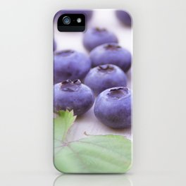 Blue Fruits iPhone Case