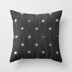 Metallic Armor Throw Pillow