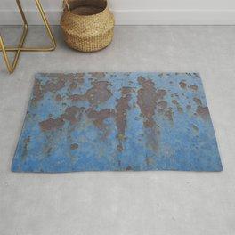 Beautiful Decay - Blue rust Rug