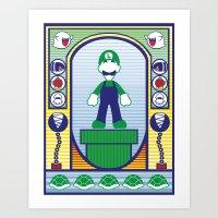 luigi Art Prints featuring Luigi by Angelo Rabbit