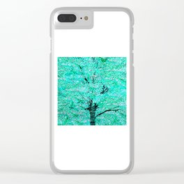 Trees Green Misty Clear iPhone Case