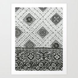 Chamak BW Art Print