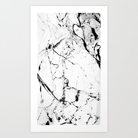 Marble Texture Print (Blanc) Art Print