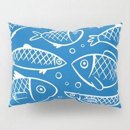 Fish blue white Pillow Sham