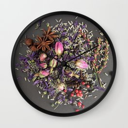 lavender, rose and spices Wall Clock