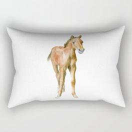 Watercolor Horse Painting Rectangular Pillow