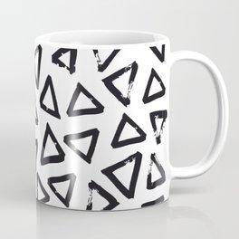 Black Brushstroke Triangel Pattern, Scandinavian Design Coffee Mug