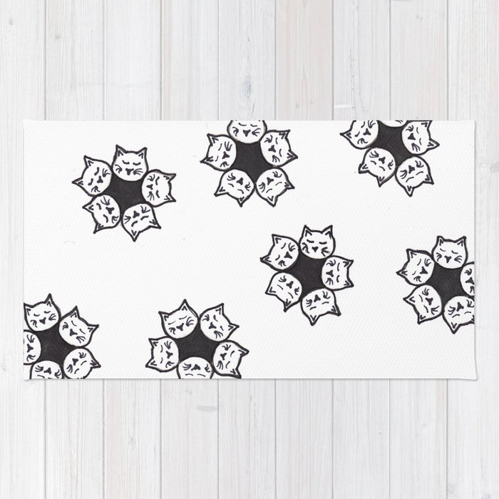 Cat Blossoms Rug
