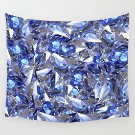 Blue plexus Wall Tapestry