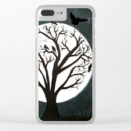 Peaceful Moon Night Gathering Clear iPhone Case