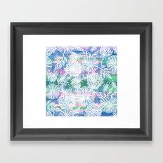 Garden in white Framed Art Print
