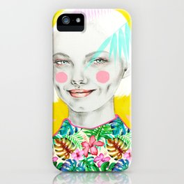 Lin-Yellow iPhone Case