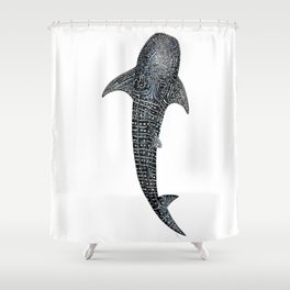 Whale shark for divers, shark lovers and fishermen Shower Curtain