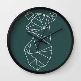Geometric Doe (White on Slate) Wall Clock