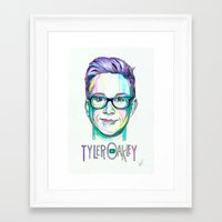 tyler oakley Framed Art Prints featuring Tyler Oakley  by Stephanie Shaw