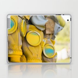 Yellow gas mask Laptop & iPad Skin