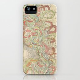 River Cartography iPhone Case
