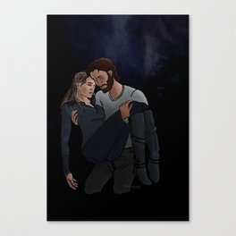 carrying her home Canvas Print