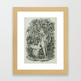 Lot on your mind. Framed Art Print