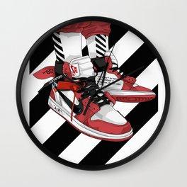 Jordan I Off White Art Wall Clock