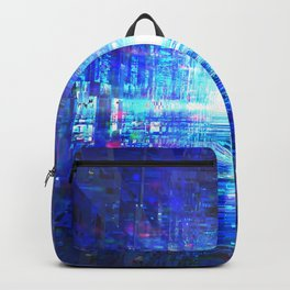 Blue Reflecting Tunnel Backpack