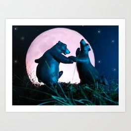 Dancing Bears Art Print