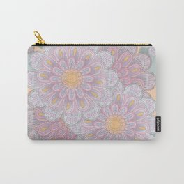 Zinnia Mandala greyed Carry-All Pouch