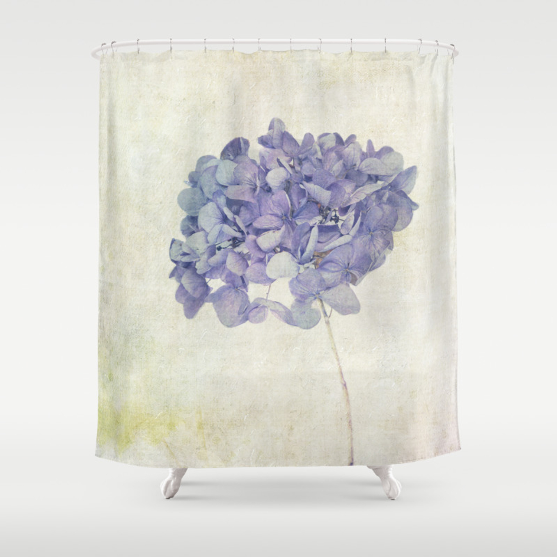 Blue Hydrangea Shower Curtain By