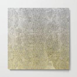 Silver and Gold Glitter Gradient Metal Print