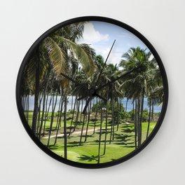 Sri Lankan Sea Shore Wall Clock