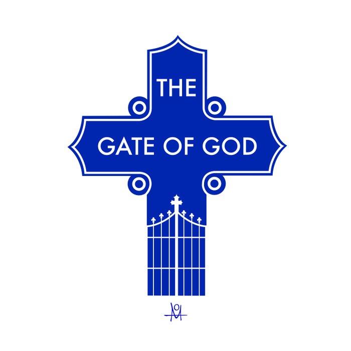 The Gate Of God Duvet Cover