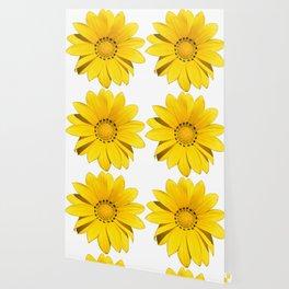 Yellow flower / dots Wallpaper