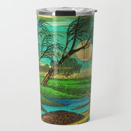 Seba Ohta River Japan Ukiyo e Art Travel Mug
