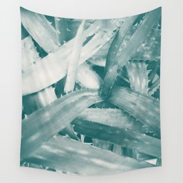 Tropical texture in gradient of blue colours ready for many products Wall Tapestry