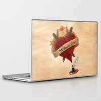 writing Laptop & iPad Skins featuring Writing is Love by gunberk