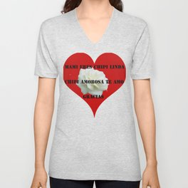 the heart commands Unisex V-Neck