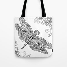 Fly with me through the wind, my dragonfly. Tote Bag