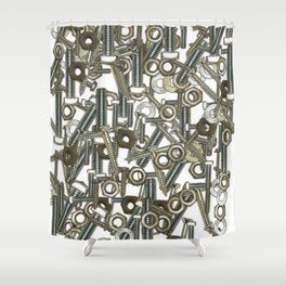Nuts & Bolts Shower Curtain
