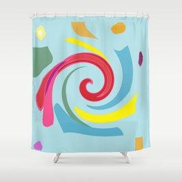 Fingerpaint Shower Curtain