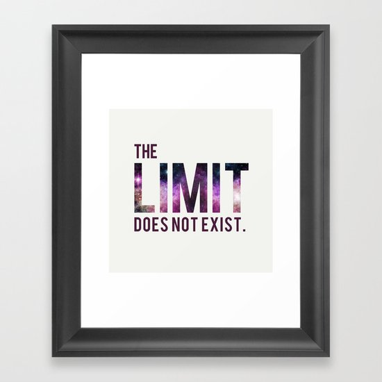 The Limit Does Not Exist - Mean Girls quote from Cady Heron Framed Art Print