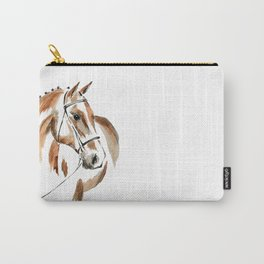 Bay Watercolour Horse Carry-All Pouch