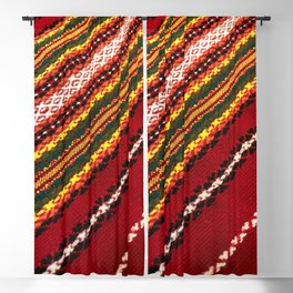 Authentic Bulgarian tablecloth Blackout Curtain
