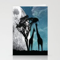 african Stationery Cards featuring African Nights by Bakmann Art