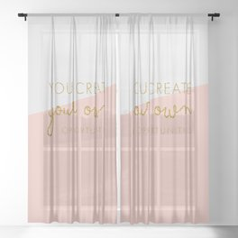 You create your own Opportunities quote in glitter gold Sheer Curtain