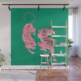 The Chase: Pink Tiger Edition Wall Mural